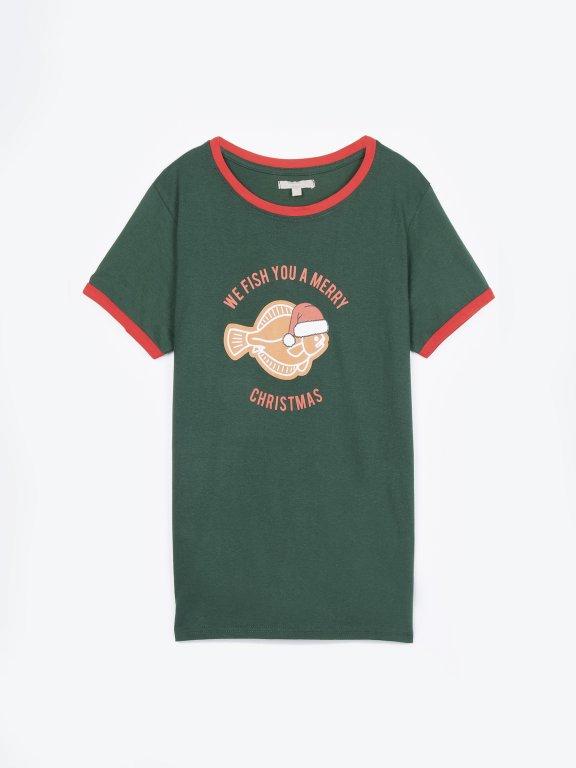 Tričko s vianočným motívom