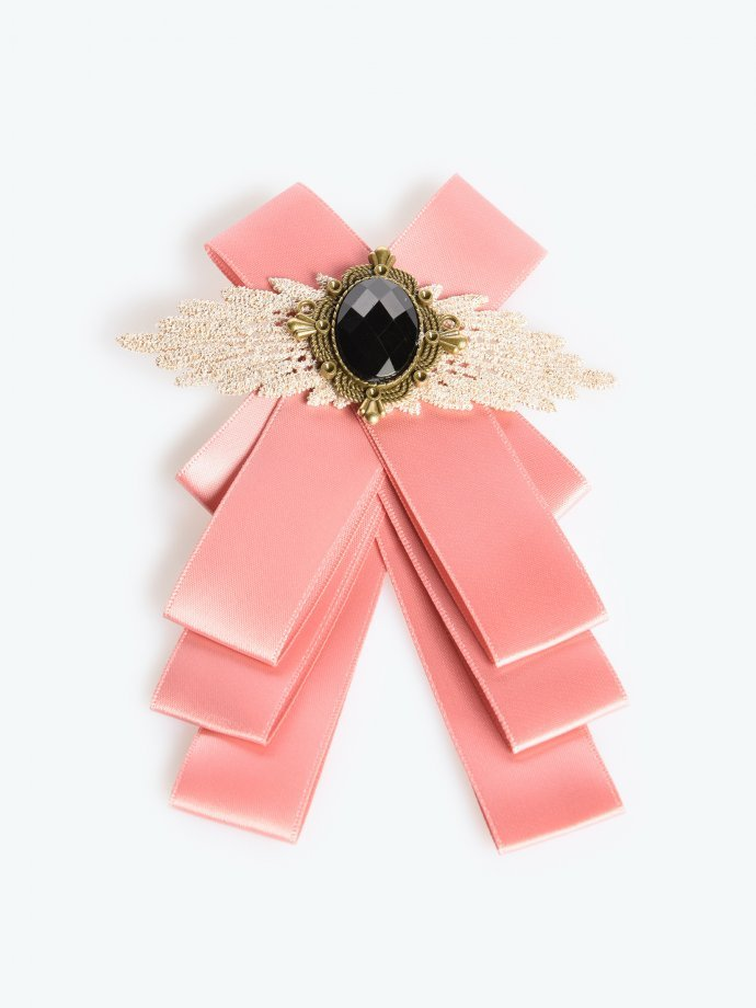 Brooch with satin bow
