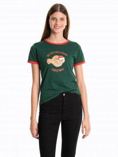 Koszulka z motywem świątecznym
