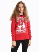 Christmas print hoodie