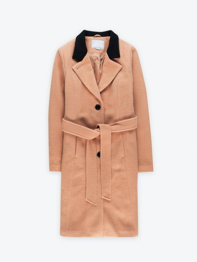 Coat in wool blend