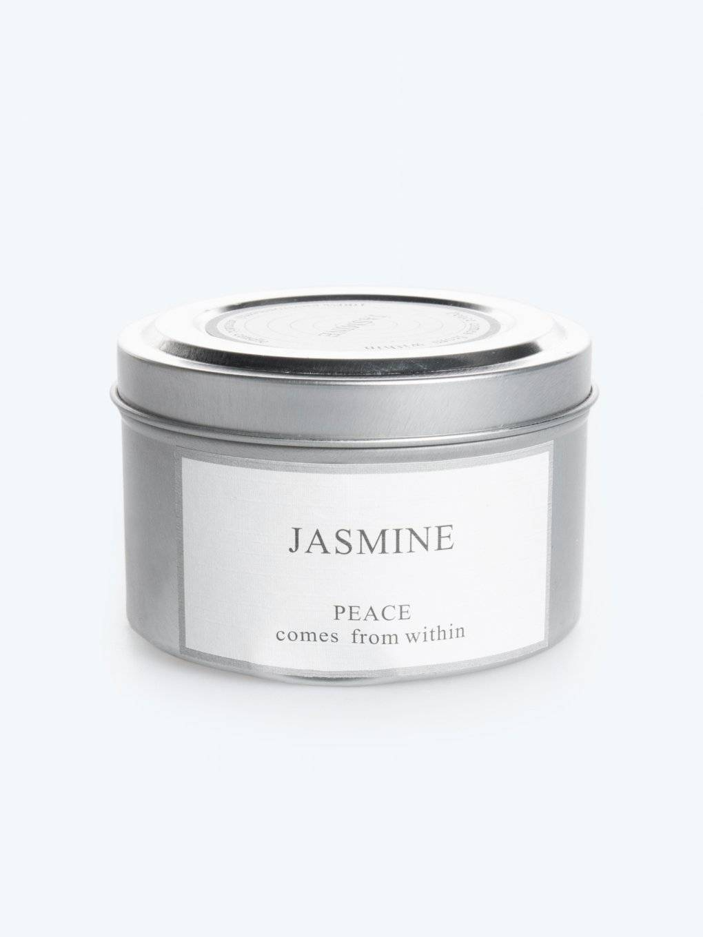 Jasmine scented tin candle