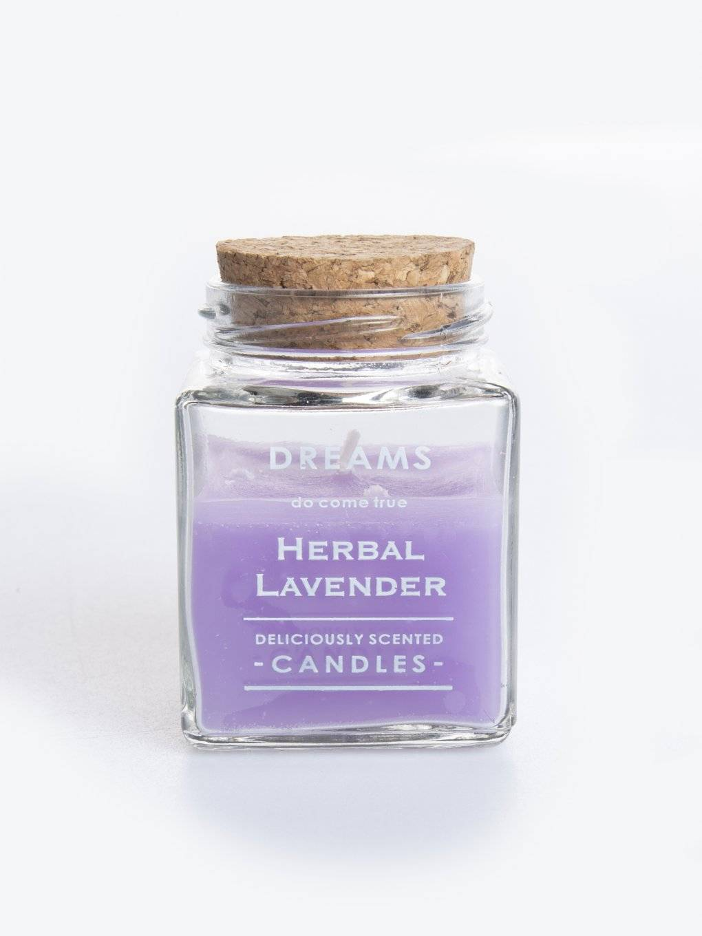 Herbal lavender scented candle