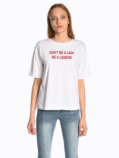 Top with message print