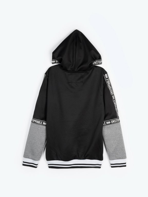 Taped jacket with hood