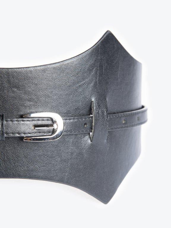 Faux leather waist belt