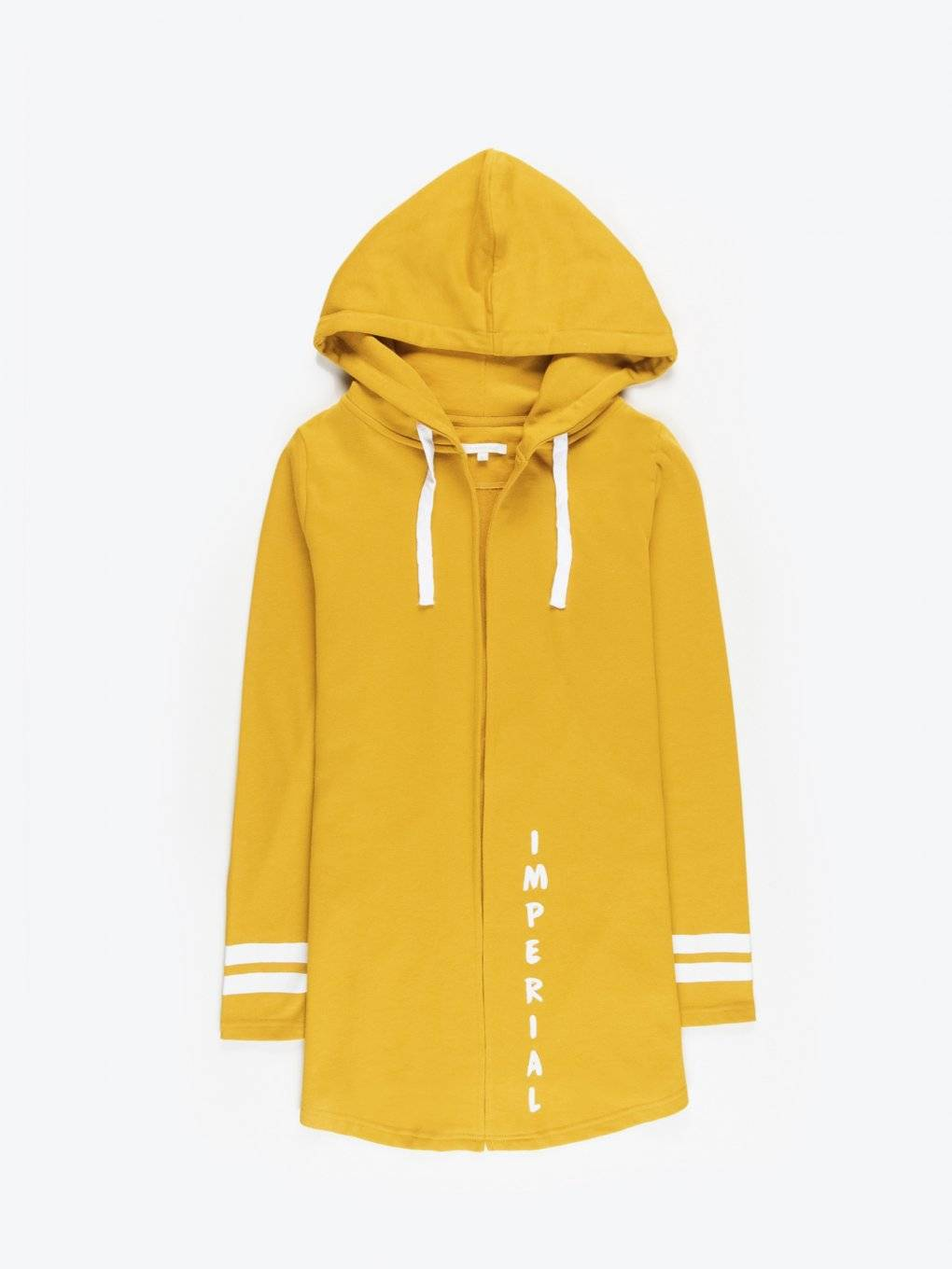 Longline hoody with message print