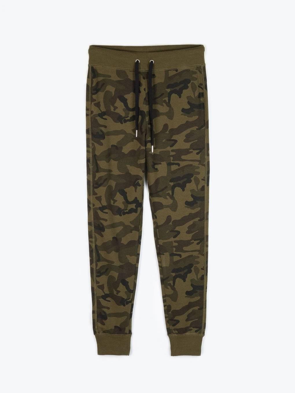 Camo printed sweatpants