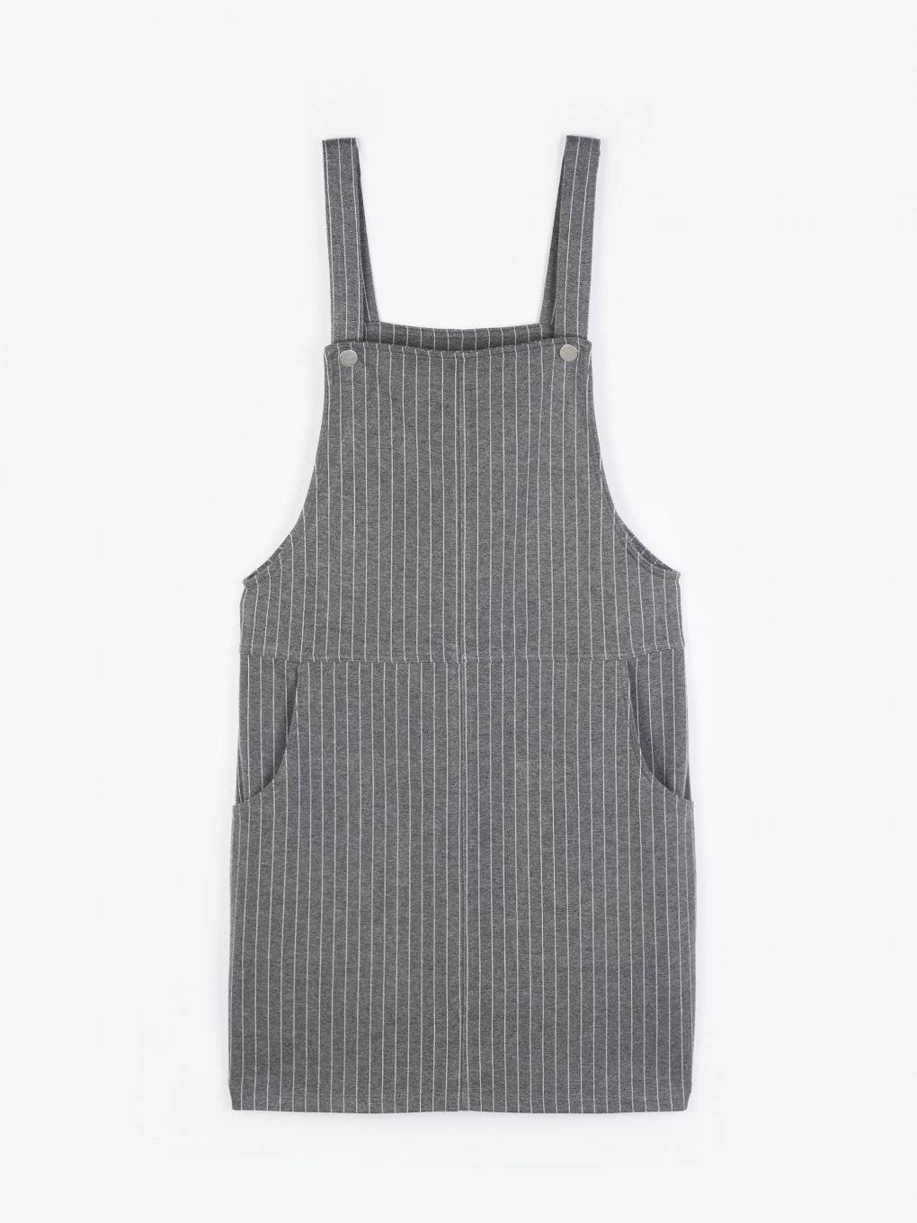 Dungaree skirt with side pockets