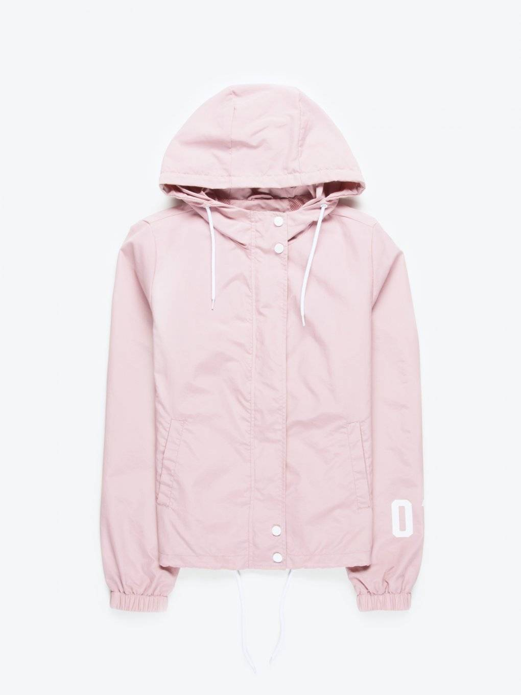 Hooded jacket with message print