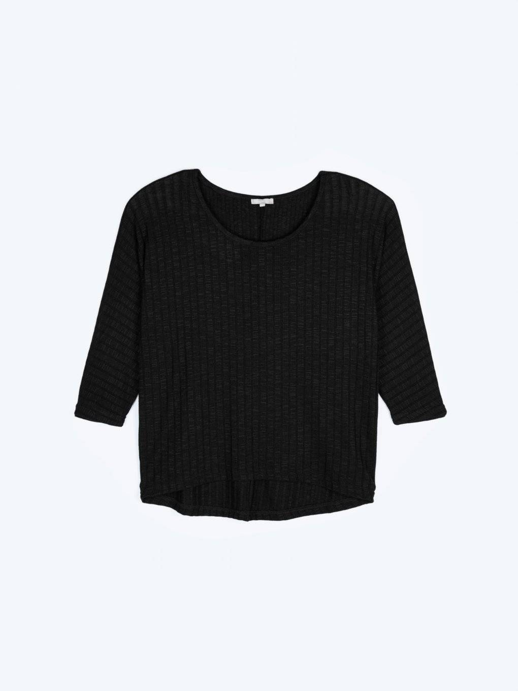 Ribbed oversized light pullover