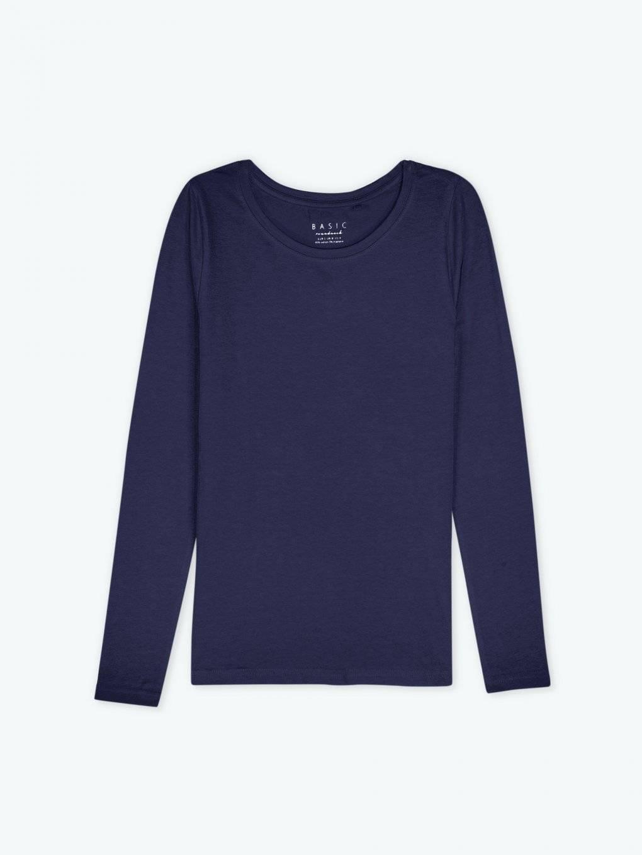 Jednoduché strečové tričko s dlouhým rukávem