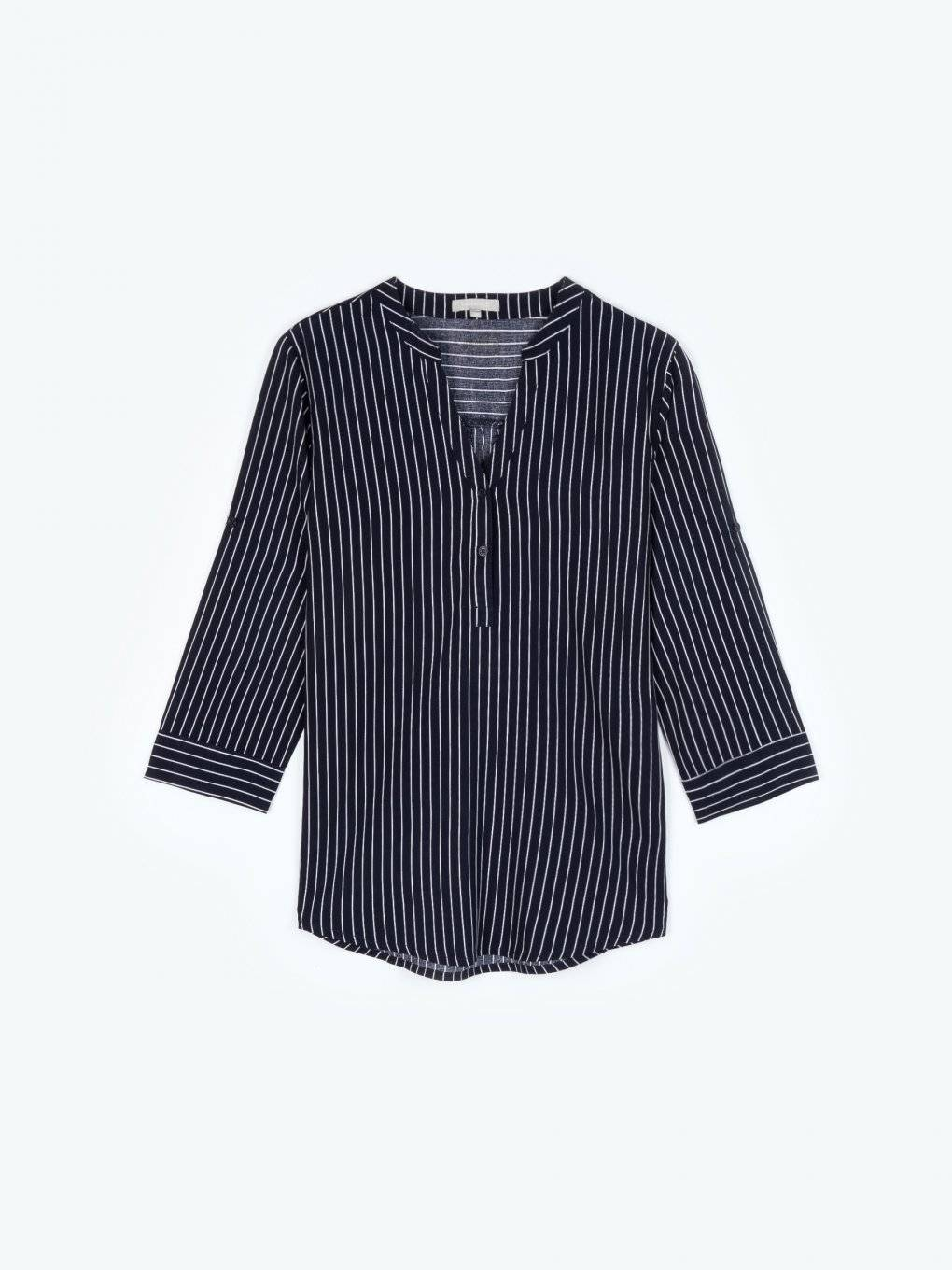 Striped viscose blouse