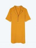 Plain shirt dress