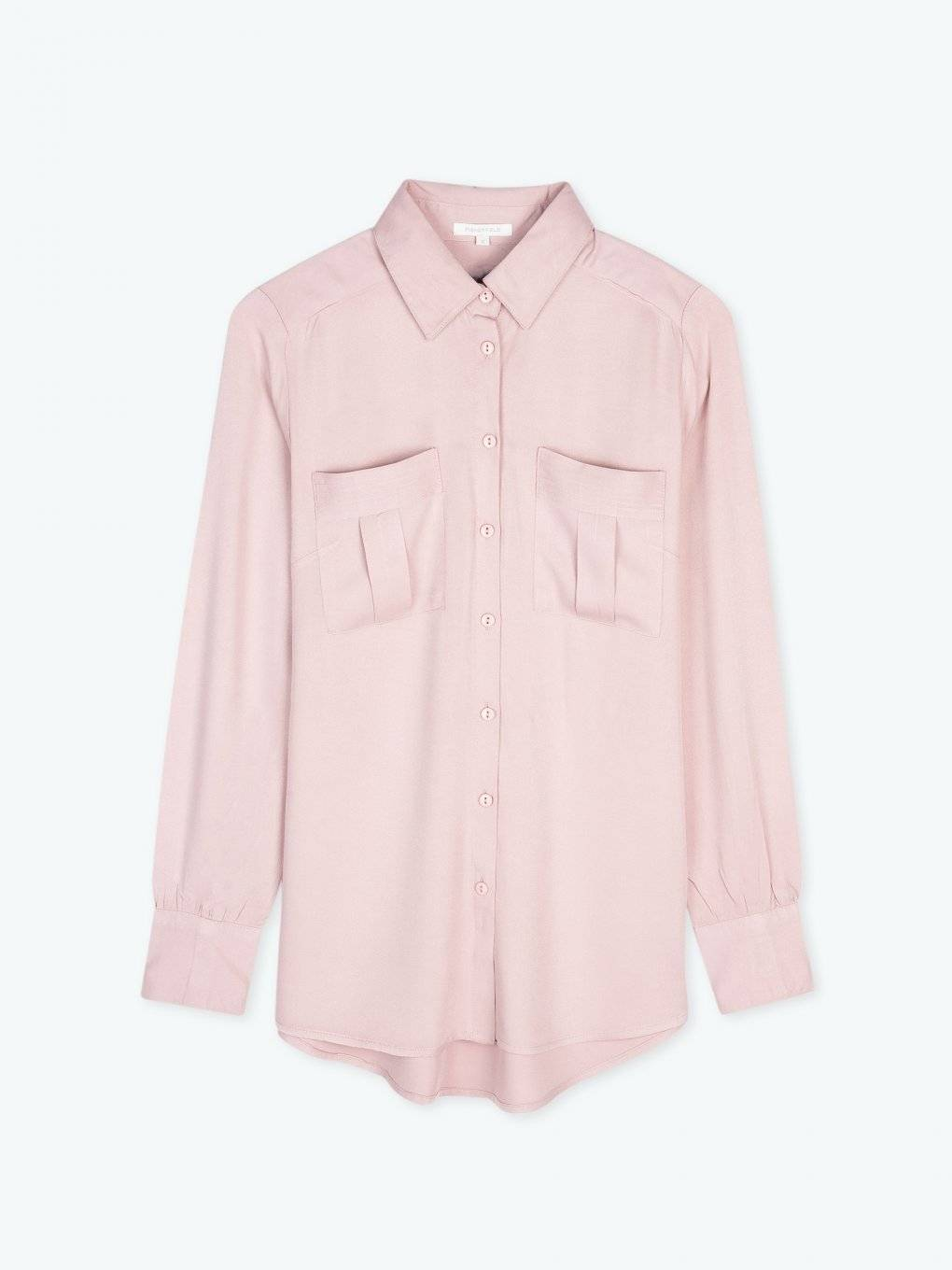 Blouse with chest pockets