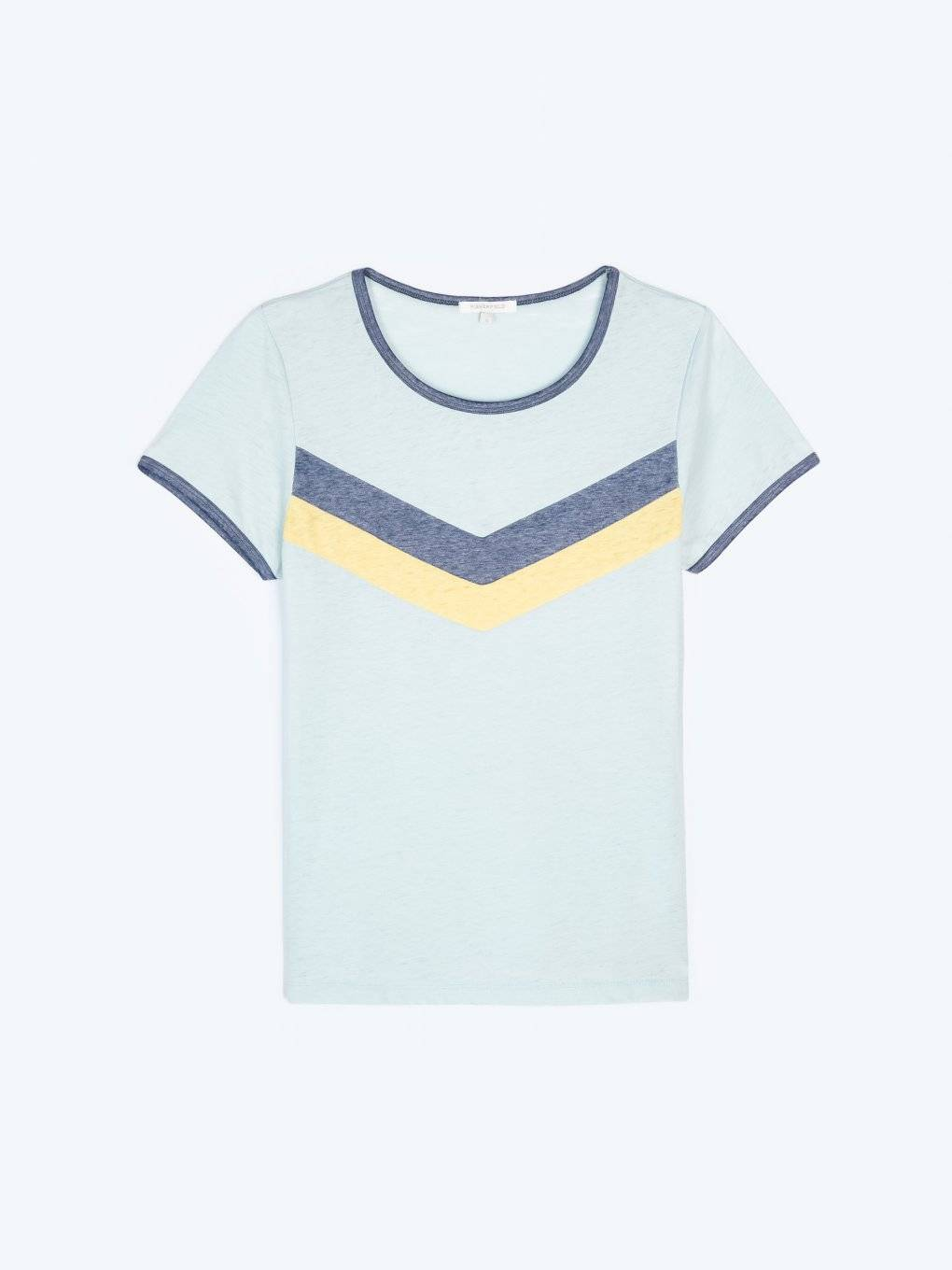 T-shirt with burnt out effect