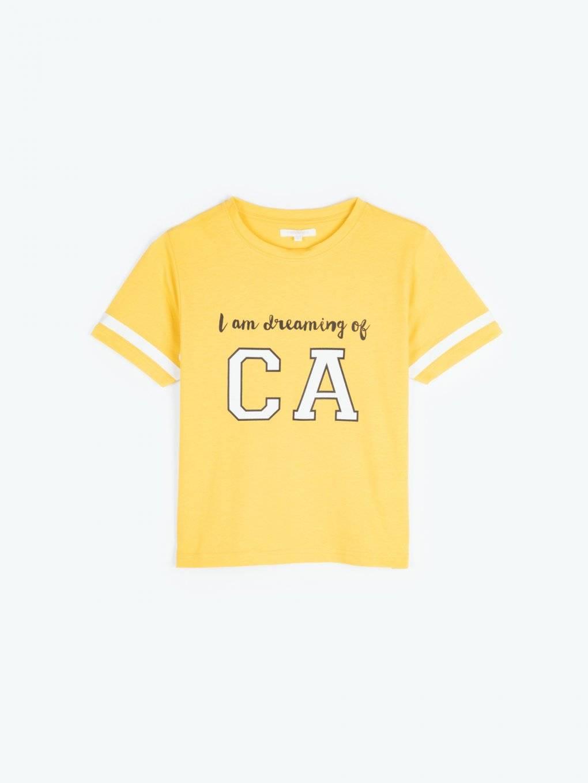 Skrátené tričko s potlačou