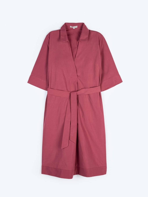 Shirt dress with pockets