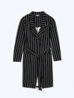 Prolonged striped blazer