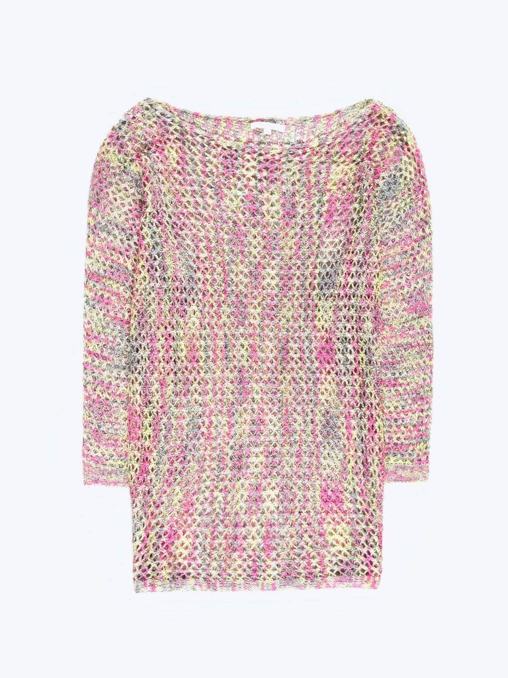 Colourful fishnet jumper