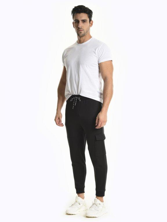 Sweatpants with side pocket