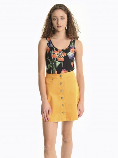 Tank with floral print
