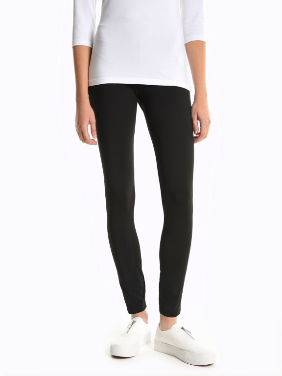 Leggings with decorative studs