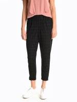 Tapered fit stretchy trousers