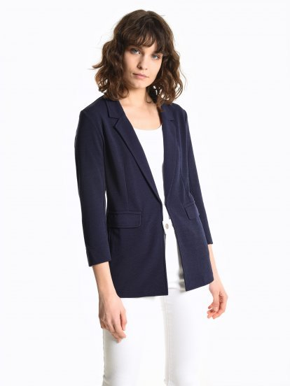 Basic blazer with flap pockets