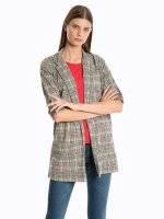 Longline plaid blazer
