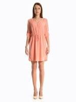 Plain dress with front zipper