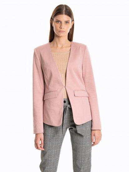 Stripe lined blazer