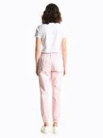Cargo pants with decorative chain