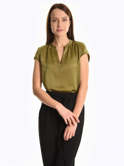 Satin loose fit blouse