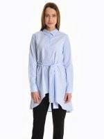 Assymmetric blouse with belt