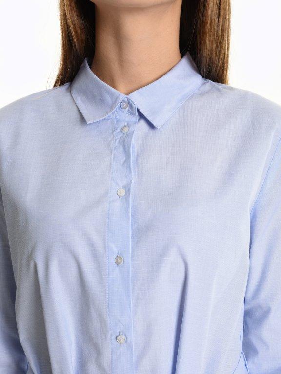 Asymetrická košile s páskem