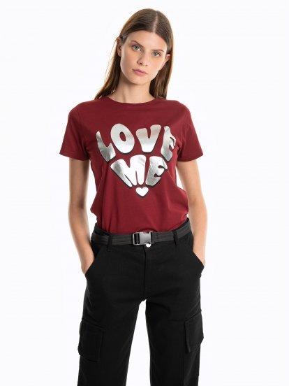 Tričko s metalickou potlačou