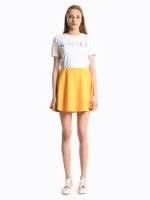 Plain skater skirt
