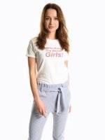 Message print t-shirt