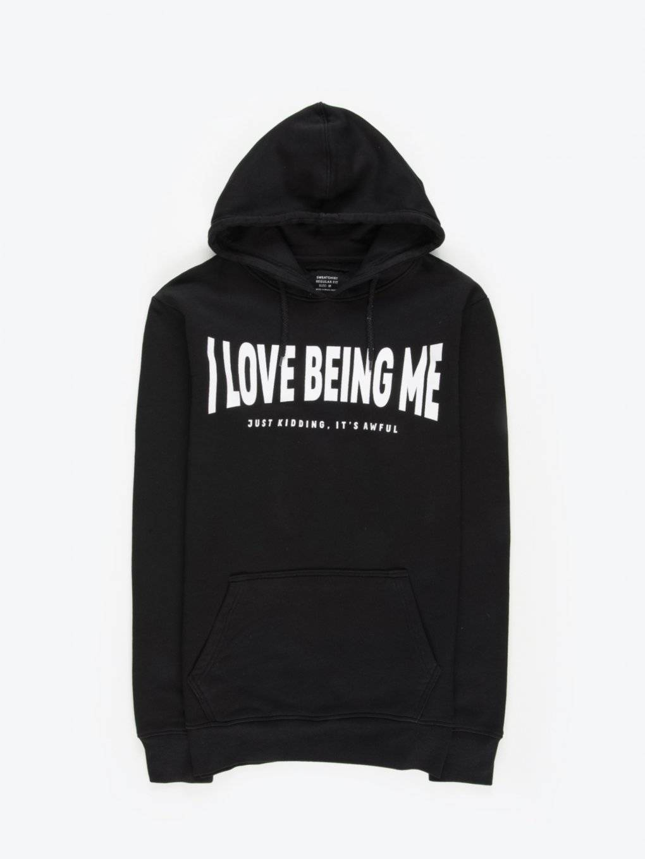 Message print hoodie