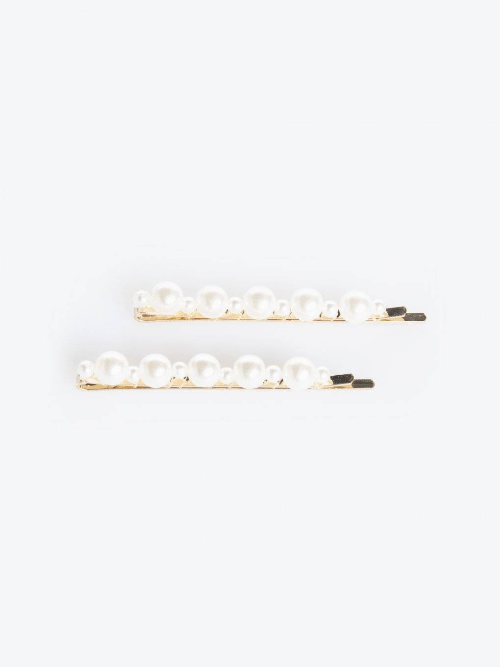 2-pack of pearl hair clips