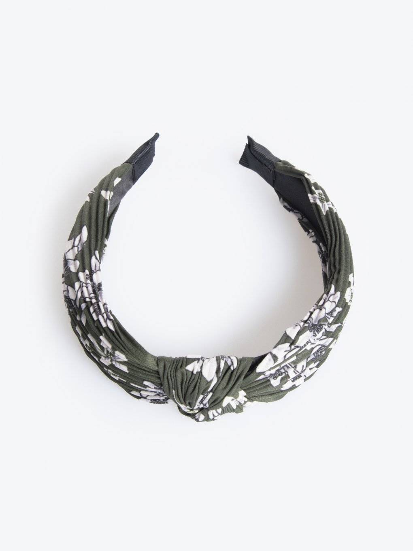 Floral print headdress