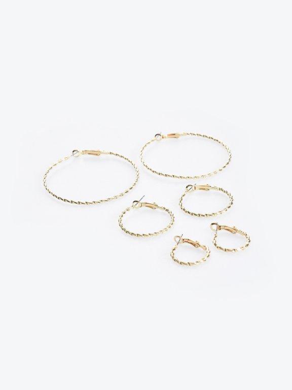 3-pack hoop earrings set