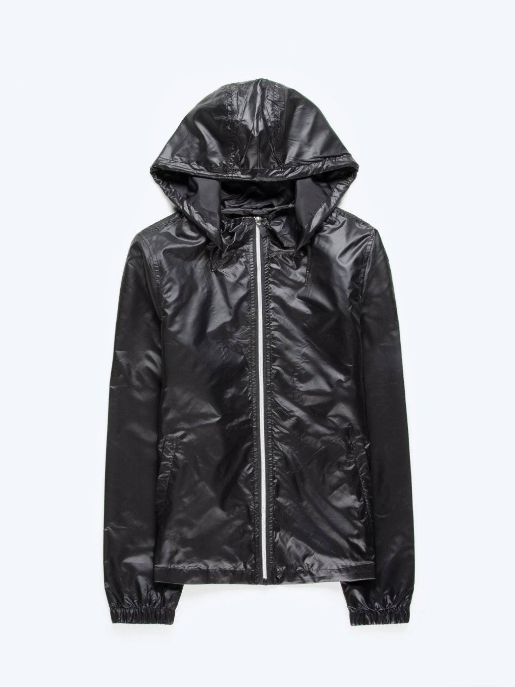 Basic hooded windbreaker