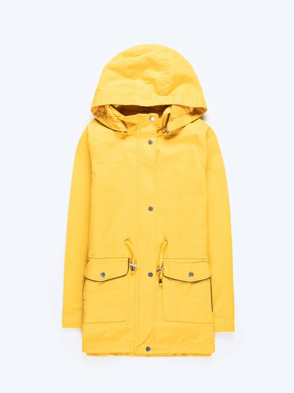Cotton parka with removable hood