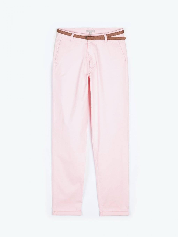 Spodnie chino ze stretchem z paskiem