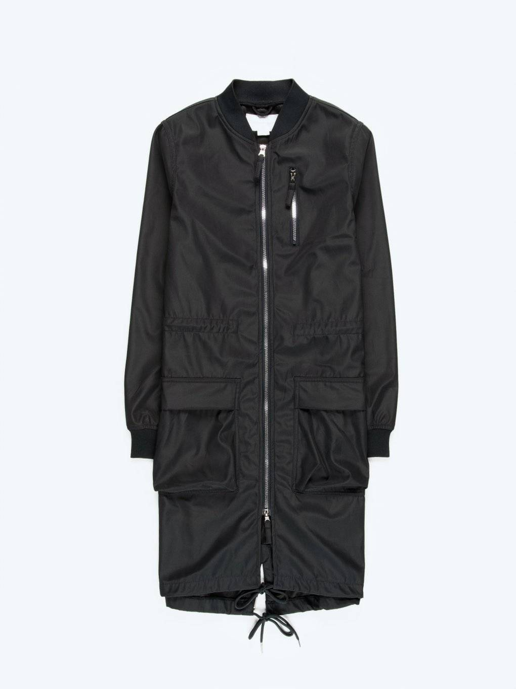 Parka jacket with print on back