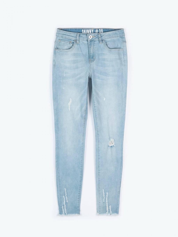 Džíny skinny s neopracovaným spodním lemem