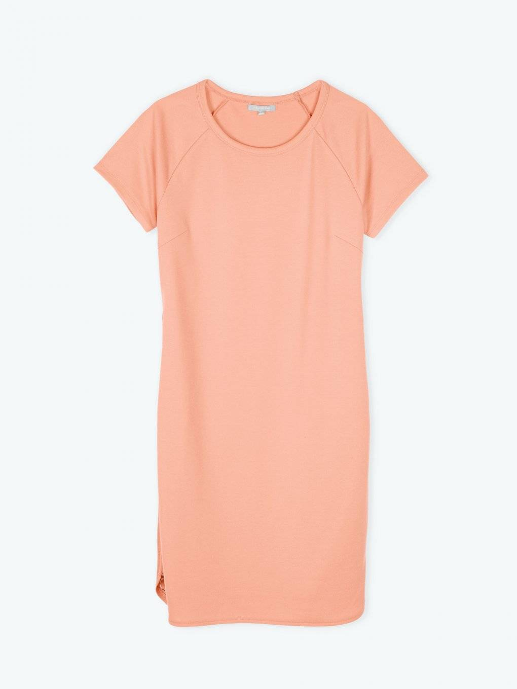 T-shirt dress with side zippers