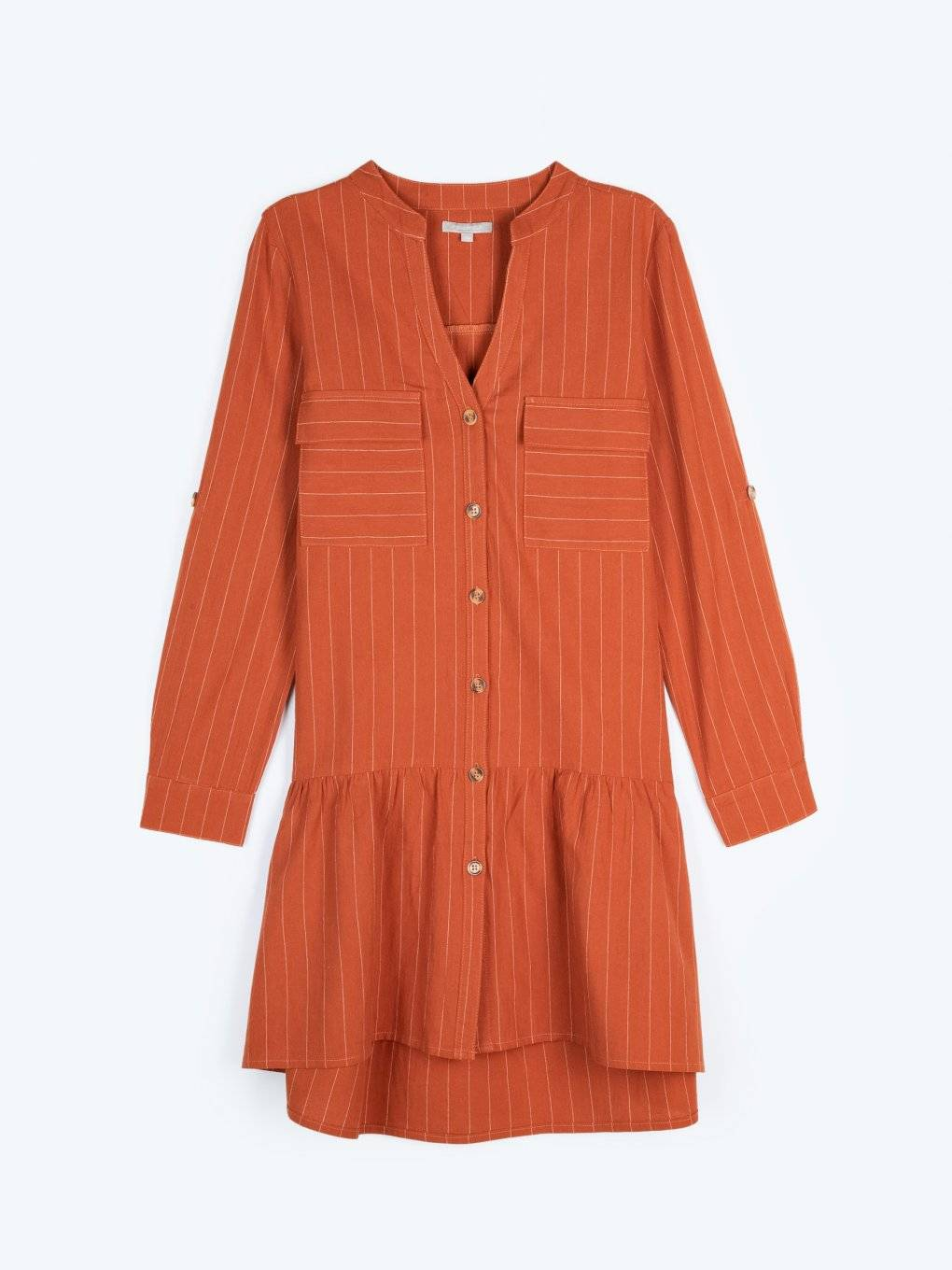 Striped shirt dress